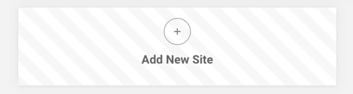 SiteGround_Add new site