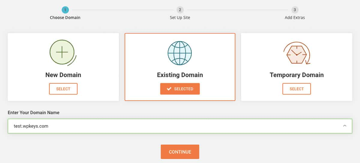 SiteGround_Choose a domain